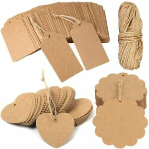Gift Tags, 120 PCS Kraft Paper With 30m Natural Jute Twine Christmas Gifts