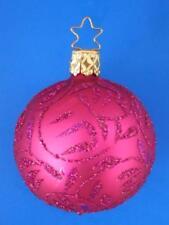 6cm MED INGE GLAS DELIGHTS FUSCIA BALL GERMAN GLASS CHRISTMAS ORNAMENT