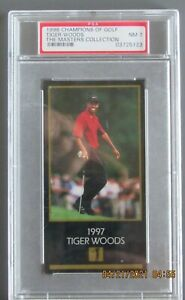 1998 CHAMPIONS of GOLF TIGER WOODS MASTER'S COLLECTION ROOKIE PSA GRADED NM 7 RC