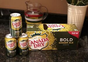 You Get 3 Cans! New! Canada Dry BOLD Ginger Ale - Spicer Taste - 12 Oz Cans