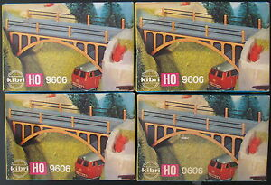 4x Kibri B-9606 - Brücke / Bridge - Spur H0 - Eisenbahn Modellbausatz - Kit