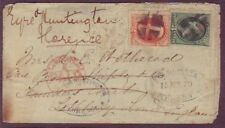 St Dennis MD to ENGLAND to ITALY 1879 Cover 2 DIFFERENT Company FORWARDING MARKS