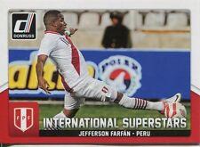 Donruss Soccer 2015 Int. Superstars Chase Card #51 Jefferson Farfan
