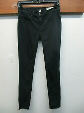 EUC Women's Rag & Bone Cotton Blend Black Plush Legging Jeans Size 28 x 29 Black