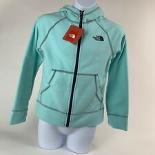 GIRLS: The North Face Fleece Full-Zip Hoodie Jacket, Blue - Size Large (14/16)