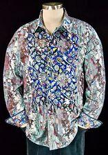 Robert Graham NWT $298 Paint Splatter Abstract Embroidered Sports Shirt XL
