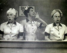 """1952 I LOVE LUCY CANDY FACTORY JOB 11X14"""" B&W PHOTO/PRINT/POSTER FREE S&H M"""