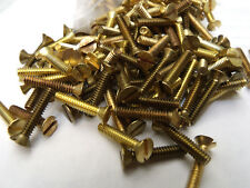 """251 pieces Flat Head Slotted Machine Screws Solid Brass #6-32 x 3/4"""""""