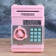 Piggy Bank Safe Money Box Bank Electronic Password Lock ATM Coin Cash Kids Gift