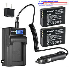 Kastar Battery LCD AC Charger for Canon LP-E12 LC-E12 & Canon PowerShot SX70 HS