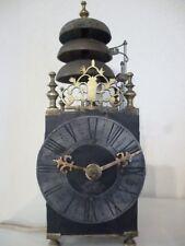 Horloge lanterne pendule normande 3 cloches wallclock 3 bells clock Wanduhr Uhr