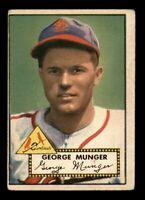1952 Topps Set Break #115 George Munger VG *OBGcards*