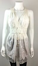 PLENTY BY TRACY REESE White Eyelet Tunic Blouse Size Small