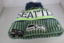 New Era Onfield NFL18 Seattle Seahawks Bobble Ski Hat - Multi Colour (BNWT)