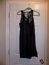 Calvin Klein Women's Mesh Tank Cover Up Dress, Ck Black, Medium
