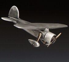 "Vega Dreamin Aircraft Airplane Handmade Cast Bronze Metal 16"" Wingspan New"