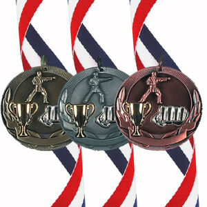 Karate - 50mm Medal (In Gold, Silver or Bronze) With Ribbon & FREE Engraving