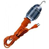 5m MAINS WORK LIGHT LOFT CAR INSPECTION LAMP GARAGE 5 METRE CABLE with EU PLUG!