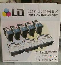 LD Kodak Compatible #10XL Bulk Set of 5 Ink Cartridges 4 Black & 1 Color 03/16