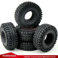 "5pcs RC 1/10 115mm Crawler Soft Tires Tyres W/ Foam Fit 1.9"" Beadlock Rims Wheel"
