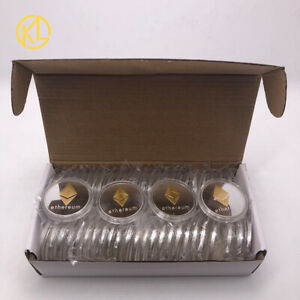 50pcs Two-color Gold and Silver ETH Ethereum Coin  Cryptocurrency Metal Coin