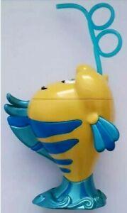 disney store drinks tumbler and straw flounder little mermaid 3d new