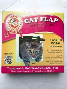 """CAT FLAP ~ SMALL CAT DOOR 6.25"""" x 6.25"""" ~ Ideal Pet Products 4-WAY New"""