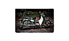 1966 Suzuki U50 Bike Motorcycle A4 Retro Metal Sign Aluminium