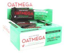 OATMEGA Chocolate Mint Crisp Grass-Fed Omega-3 Whey Protein Bar BOX OF 12 BARS