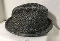 Vintage Trav'ler Fedora Hat by Country Gentleman Gray Tweed Size 7 1/4