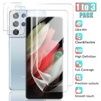 For Samsung Galaxy S21 Ultra,S21+,S21 Hydrogel Screen Protector/Camera Lens Film