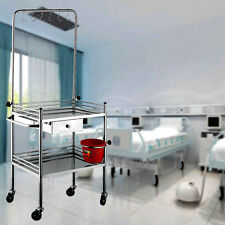 Clinic Drip Medical Dental Lab Cart Trolley Y2R3 Stainless Steel Two Layers Yes