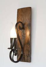 RUSTIC WALL LIGHTS SCONCE WINE BARREL RUSTIC LAMP  LANTERN VINTAGE WROUGHT IRON
