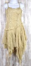 Mandalay Womens Sleeveless Beige Dress Size 8 Above Knee