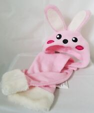 Bunny Rabbit Dog or Puppy Hat and Scarf Set or Halloween Costume Medium