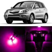 10 x Pink LED Interior Lights Package For 2007 - 2012 Acura RDX + PRY TOOL