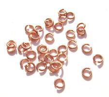 JUMP RINGS Connectors Hand Cut Raw Copper Rose Gold, 4mm 22ga, 100 Qty