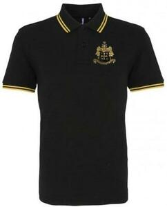 Wolverhampton Wanderers 1940s Retro Football Tipped Polo Embroidered Crest S-3XL