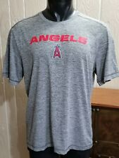 MLB Los Angeles Angels Genuine TX3 Cool Activewear Gray Heather Shirt Top Sz L
