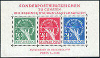 BERLIN 1949, Block 1, postfrisch, II. Wahl, gepr. Schlegel, Mi. 950,-