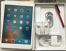 EXCELLENT Apple iPad Mini 2 32GB, Wi-Fi + 4G (Unlocked), 7.9in, Silver + EXTRAS