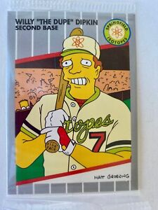 1994 SIMPSONS SERIES II WILLY THE DUPE DIPKIN B1 SEALED PROMO CARD