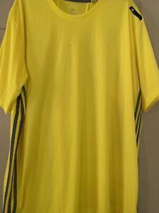 Adidas Climalite Tshirt Yellow Men's 2xl