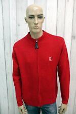 TOMMY HILFIGER Maglione Uomo Taglia M Rosso Lana Casual Pull Pullover Sweater