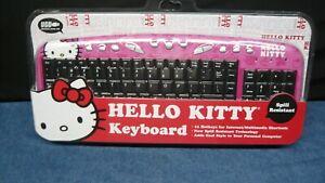Hello Kitty USB Keyboard Pink 11 Internet Hot Keys Spill Resist