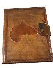 Africa Map Vintage Tuareg Leather Folder/Made in Mali/ Meeting Handmade Leather