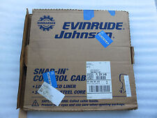 New OMC Johnson Evinrude 173128 Remote Control Snap-In Cable 28 Foot Outboard