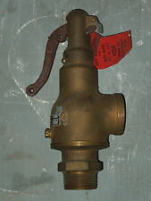 "1-1/2"" CRANE SAFETY RELIEF VALVE 2606 SET AT 220 PSI"