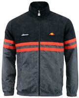 New Ellesse Men's Track Top Jacket Black Grey Rimini