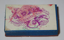 Pansy Roses Rubber Stamp Foam Mounted Remember Me Floral Bouquet Pansies Lily